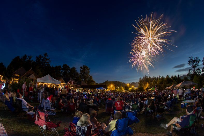 crowd takes in the amazing firework show in jackson county