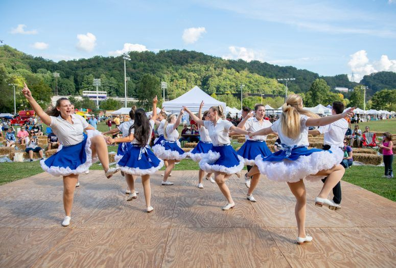 girls tap dancing on heritage day in jackson county