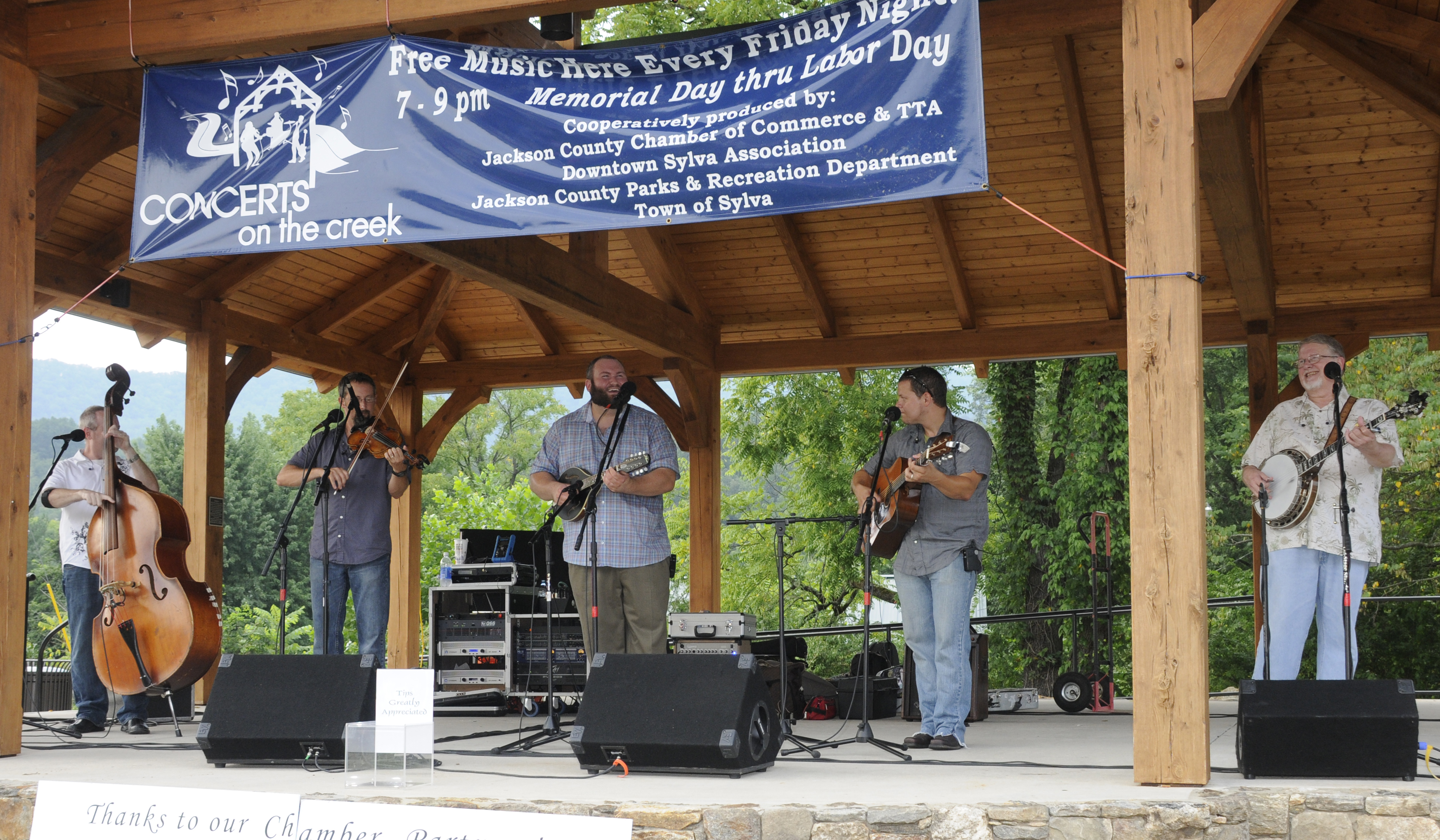live music at concerts on the creek in jackson county