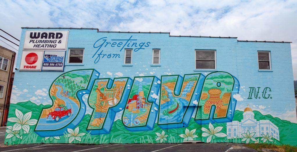 Sylva mural in jackson county