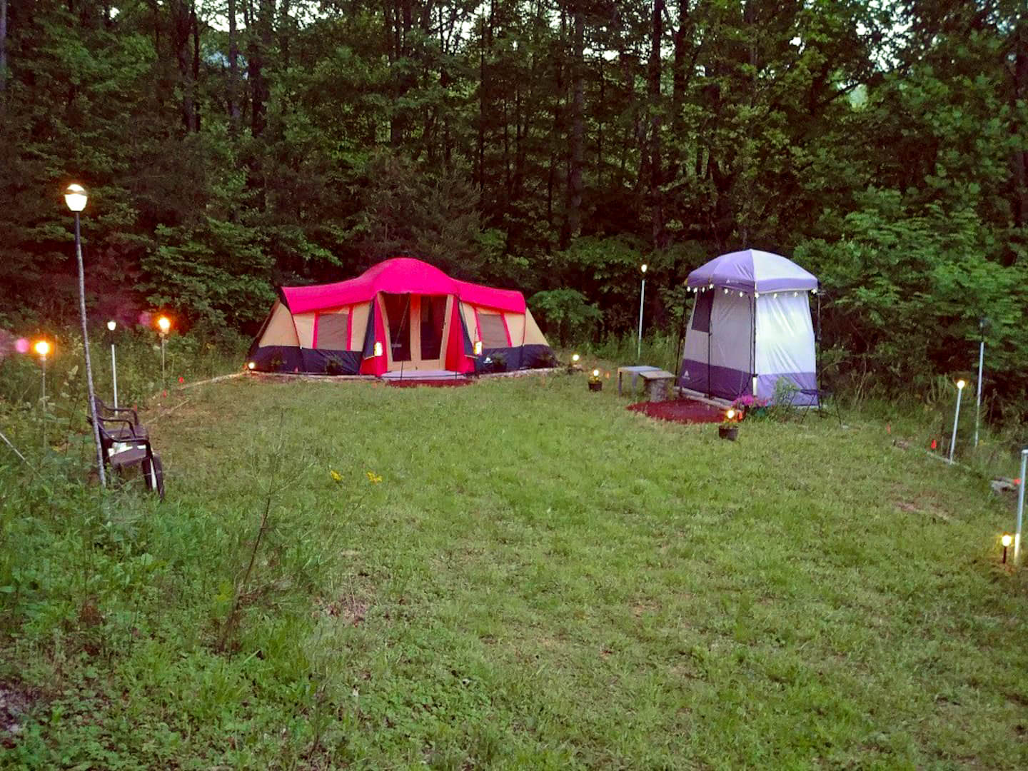 Glamp site in Tuckasegee.