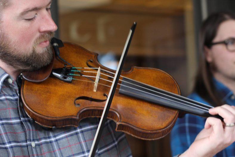 Man playing fiddle