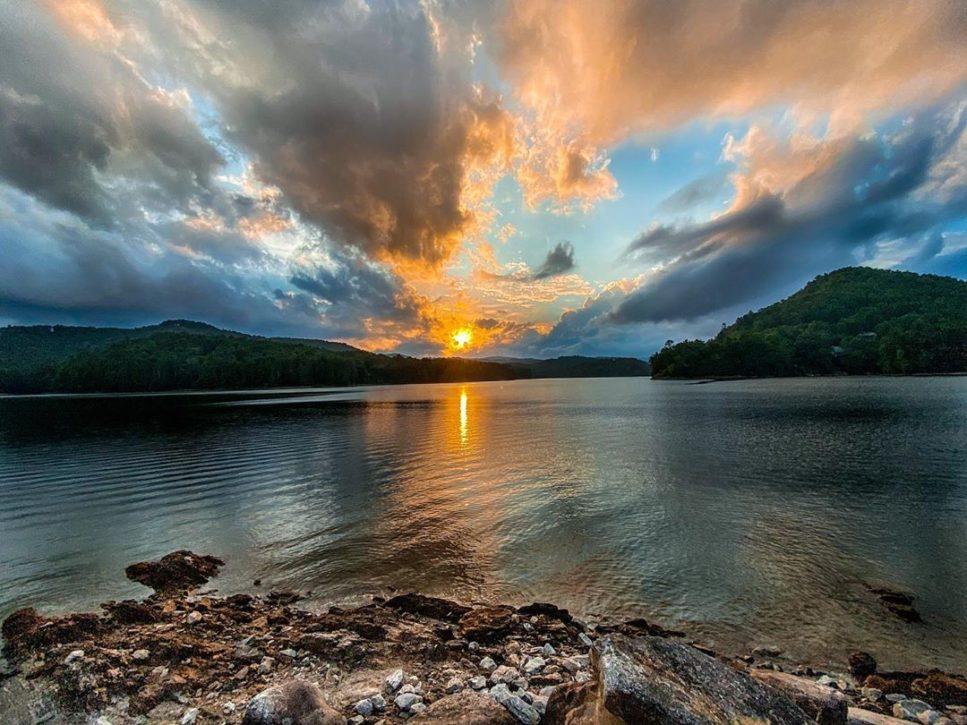 Sunset on Lake Glenville