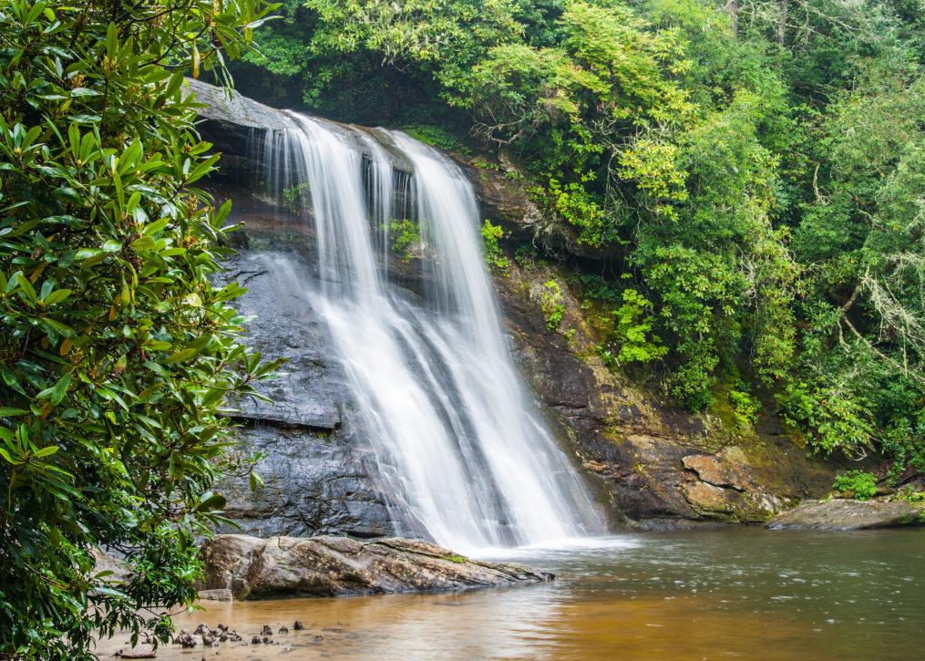 Silver Run Falls located in Cashiers, NC