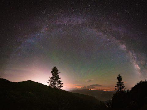 Starry night at Waterrock Knob